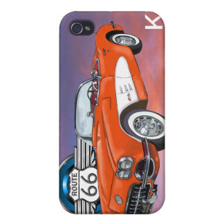 Route 66 Red Convertible - SRF iPhone 4 Cases