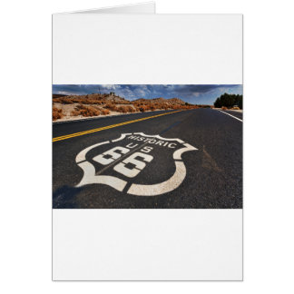 route 66 road sign USA travel hot rod Greeting Card