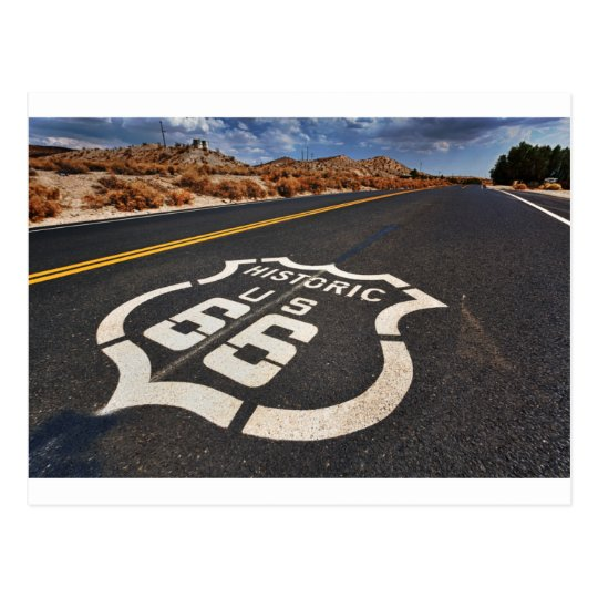 route 66 road sign USA travel hot rod