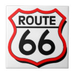 Route 66 Shield with red & Shadow Tile