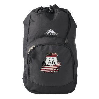 Route 66 Sign. Backpack