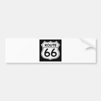 Route 66 sign bumper sticker