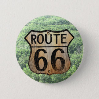 Route 66 Sign - Multiple Products 6 Cm Round Badge