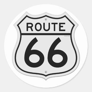 Route 66 Sign Round Sticker