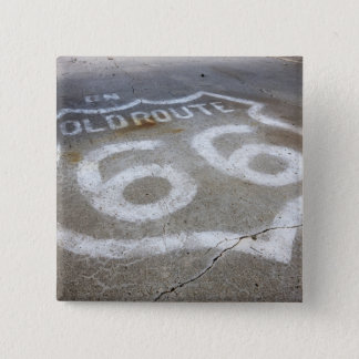 Route 66 Spray Painted on Road, Alanreed, Texas, 15 Cm Square Badge