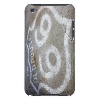 Route 66 Spray Painted on Road, Alanreed, Texas, Barely There iPod Covers