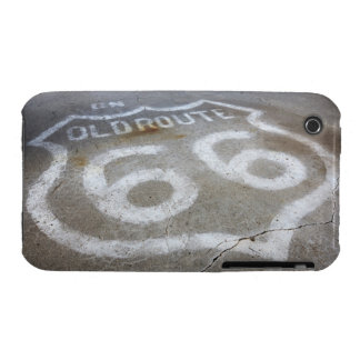Route 66 Spray Painted on Road, Alanreed, Texas, iPhone 3 Cover