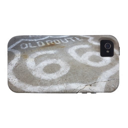 Route 66 Spray Painted on Road, Alanreed, Texas, iPhone 4/4S Cases