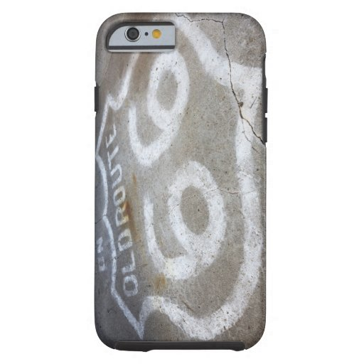Route 66 Spray Painted on Road, Alanreed, Texas, iPhone 6 Case