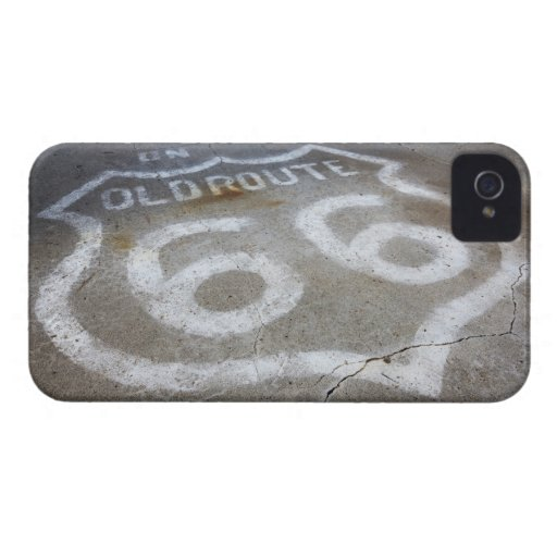 Route 66 Spray Painted on Road, Alanreed, Texas, iPhone 4 Case-Mate Cases