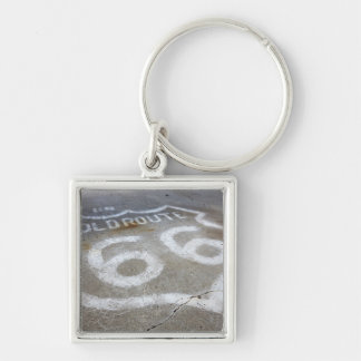 Route 66 Spray Painted on Road, Alanreed, Texas, Key Ring