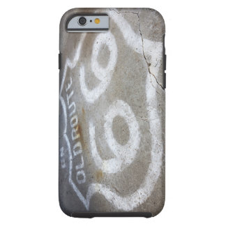 Route 66 Spray Painted on Road, Alanreed, Texas, Tough iPhone 6 Case