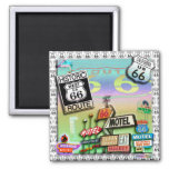 ROUTE 66 SQUARE MAGNET