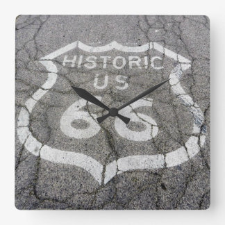 Route 66 Square Wall Clock