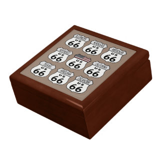 Route 66 States Large Square Gift Box