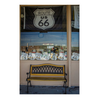 Route 66 Storefront Poster