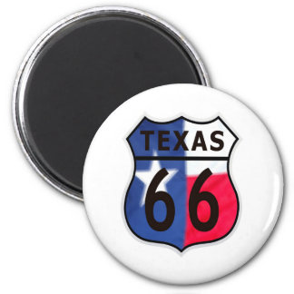 Route 66 Texas Color 6 Cm Round Magnet