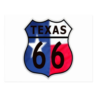 Route 66 Texas Colour Postcard