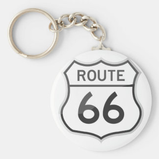 Route 66 US Scenic Historic Highway Road Trip Basic Round Button Key Ring