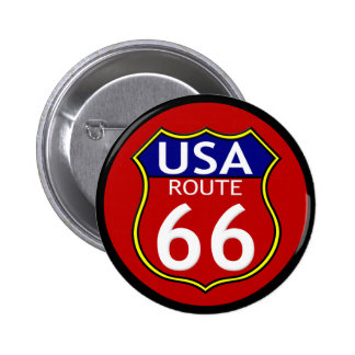 Route 66 USA Button