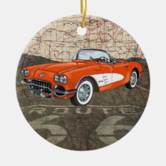 Route 66 Vintage Auto - SRF Christmas Ornament