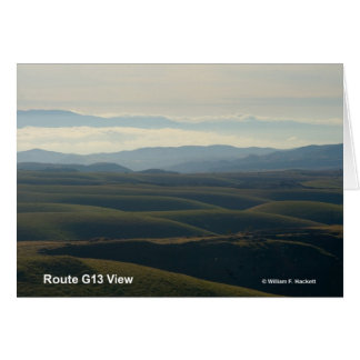 Route G13 View California Products Greeting Cards