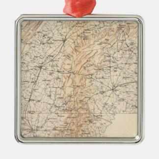 Route, Gettysburg campaign Silver-Colored Square Decoration