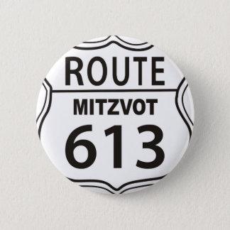 ROUTE MITZVOT 613 6 CM ROUND BADGE