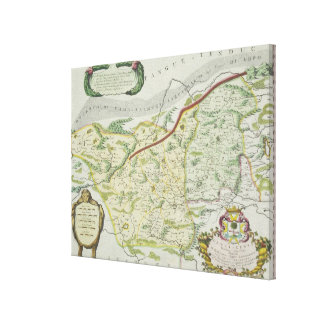 Route of Marco Polo Canvas Print