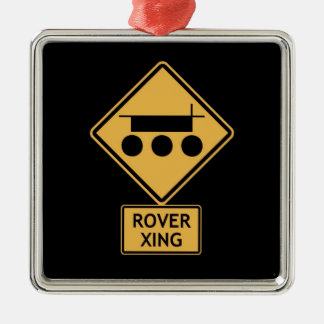 rover crossing christmas ornament