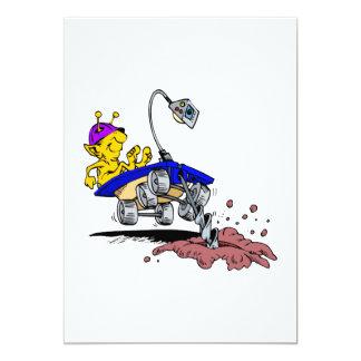Rover Digger 13 Cm X 18 Cm Invitation Card