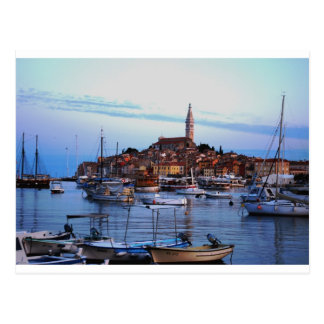Rovinj Harbor, Croatia Postcard