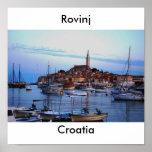 Rovinj Harbour, Croatia Poster