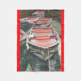 Row boat fleece blanket