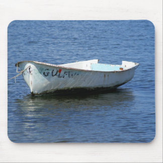 Row Boat on Blue Mouse Pad