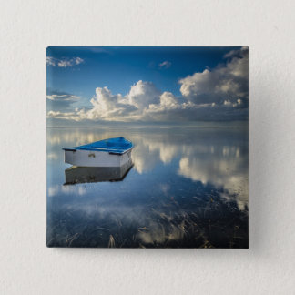 Row Boat On The Water 15 Cm Square Badge
