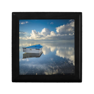 Row Boat On The Water Small Square Gift Box