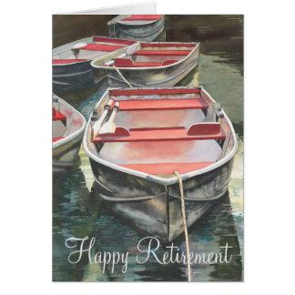 Row boat retirement card
