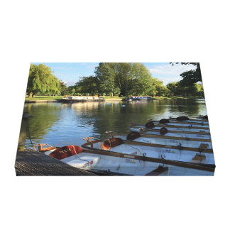 Row Boats on the River, Stratford Upon Avon UK Canvas Print
