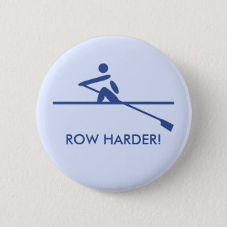 Row harder pictogram caption blue 6 cm round badge
