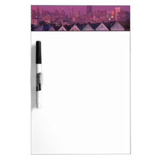 Row houses at sunset in San Francisco, Dry Erase White Board