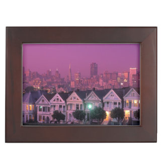 Row houses at sunset in San Francisco, Keepsake Box