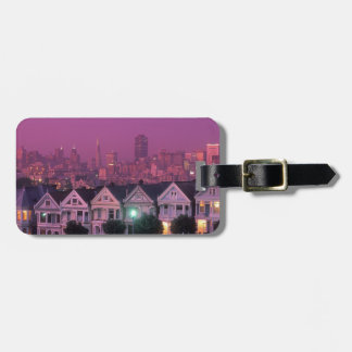 Row houses at sunset in San Francisco, Tags For Luggage