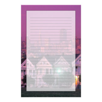 Row houses at sunset in San Francisco, Stationery Paper