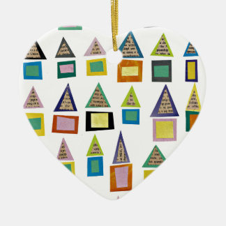 Row Houses Ceramic Heart Decoration