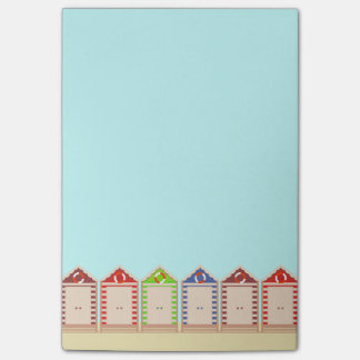 Row of Colorful Beach Huts Post-it® Notes