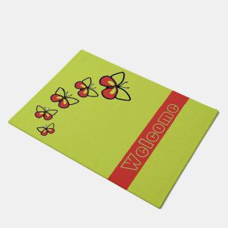 Row of Cute Butterflies Doormat