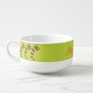 Row of Cute Butterflies Soup Mug