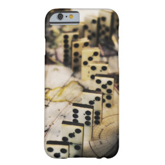 Row of dominoes on old world map barely there iPhone 6 case