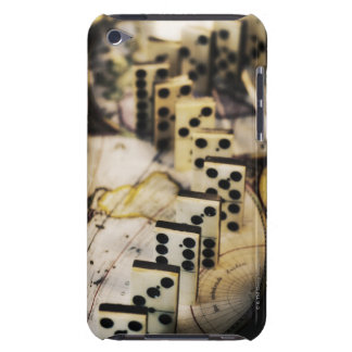 Row of dominoes on old world map Case-Mate iPod touch case